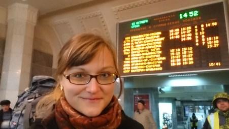 Departing to Novo - Train No. 2 in direction to Vladivostok