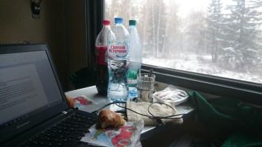 Writing my blog on the train