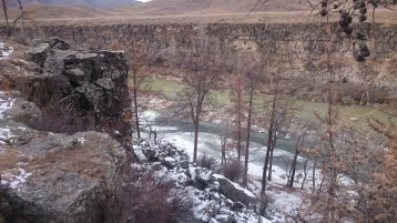 Orkhon Valley with rocks