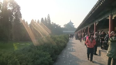 Relaxing atmosphere at Temple of Heaven
