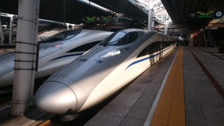 The super modern high speed trains