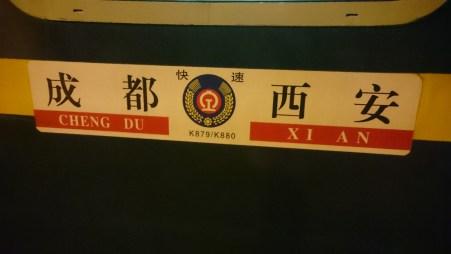 Overnight train to Chengdu, here we come!