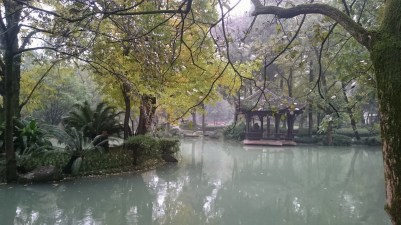 Lake in the Dujiangyan park