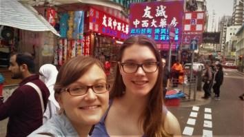With Elisa who studies in Hong Kong