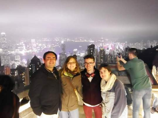 Group Picture from the Peak in Hong Kong