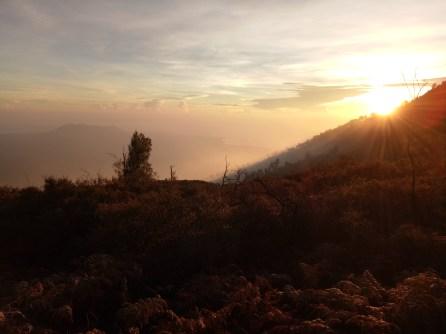 Sunrise at Kawah Ijen Vulcano