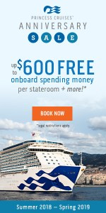 promo to save $600 on onboard spending for the Princess Cruise