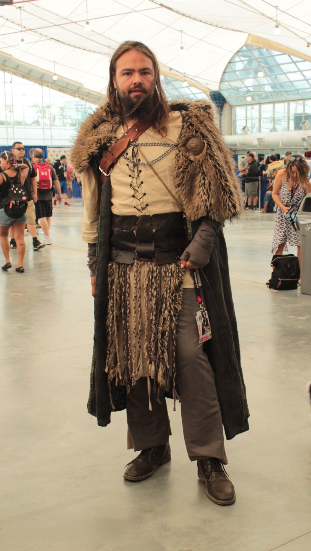 Character dressed as John Snow from Game of Thrones