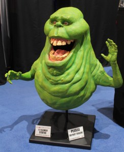 Ghostbusters Slimer figurine smiling with mouth open