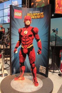 Life size Flash character built out of Lego