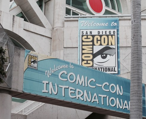 Comicon Sign Welcoming attenders