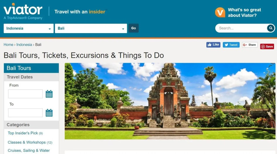 Book Bali tours online with Viator