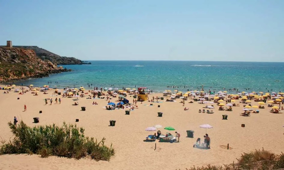 Best places to visit in Malta - Golden Bay