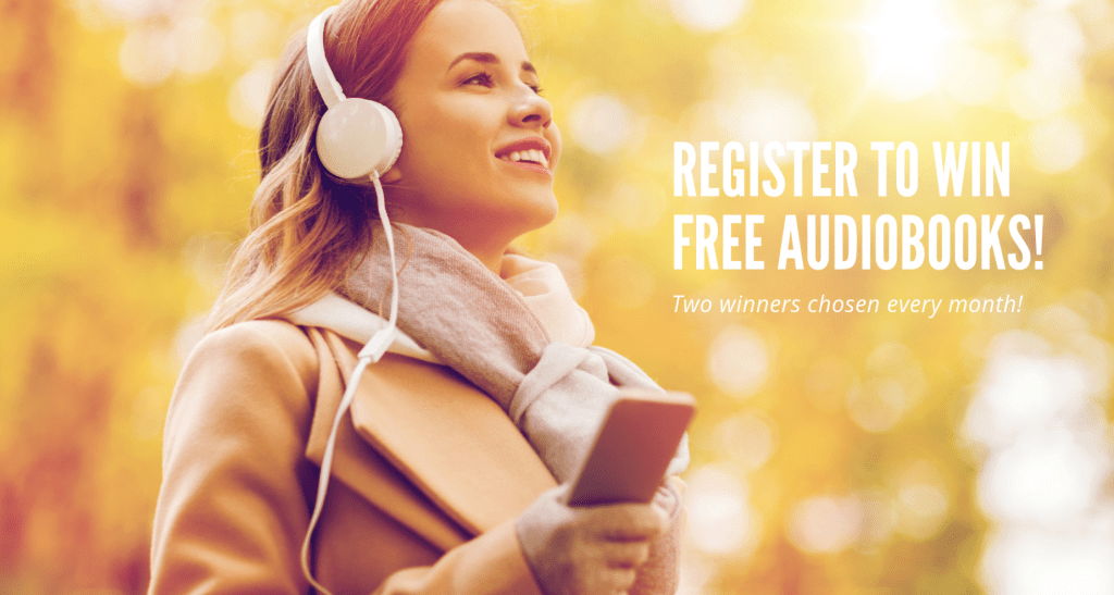Register to win free audiobooks