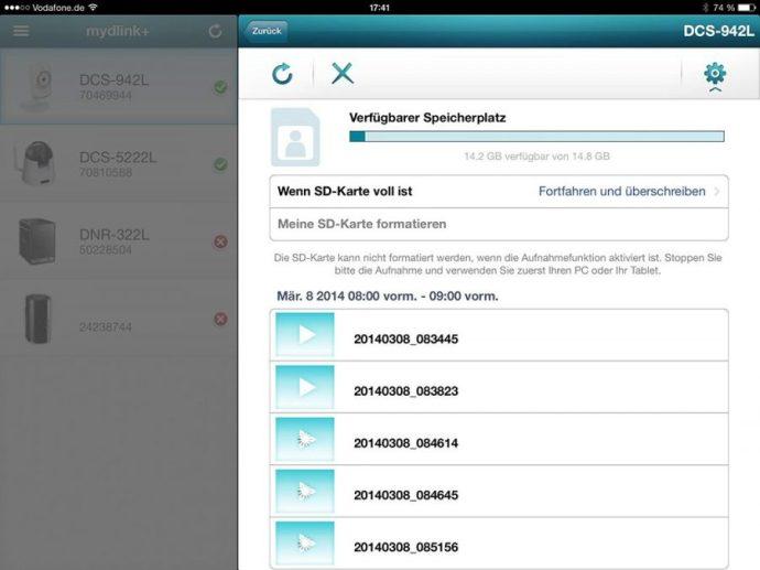 D-Link DCS-942L iOS Zugriff