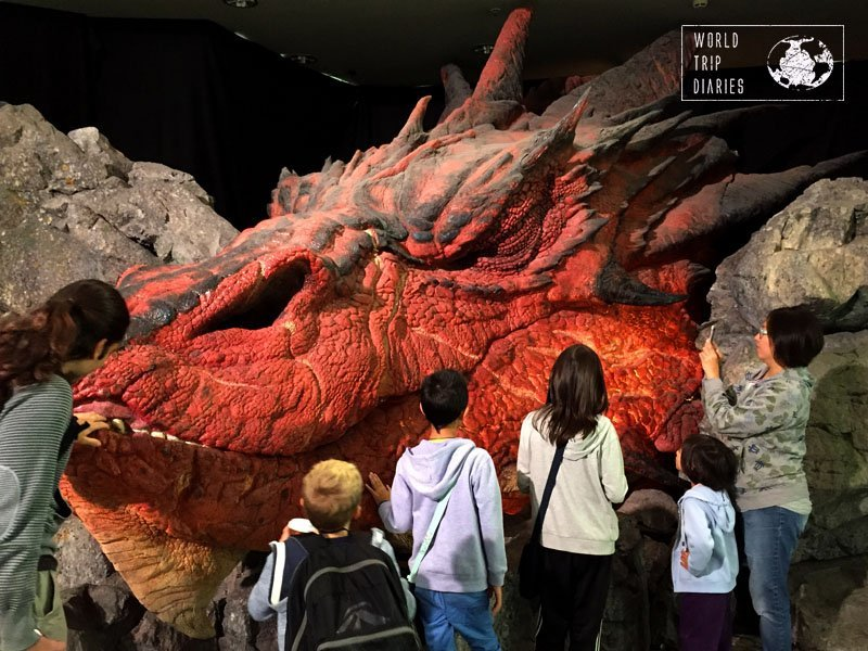 Smaug at the airport - pretty impressive!