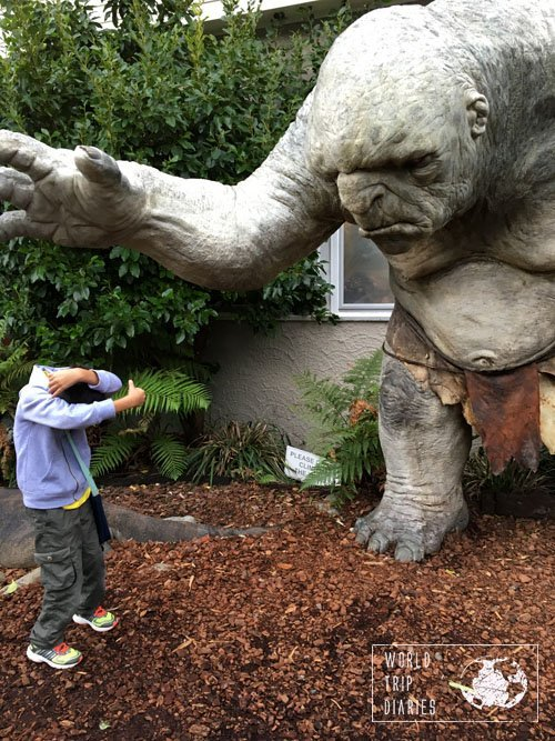 A troll encounter at Weta Cave, Wellington, NZ. 3 years ago, it had hair on the head and in the nose. Right now it's all shaved.