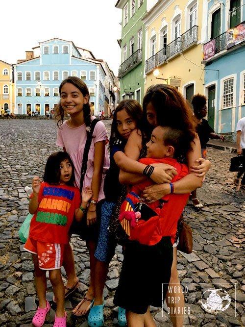 family pelourinho salvador bahia brazil