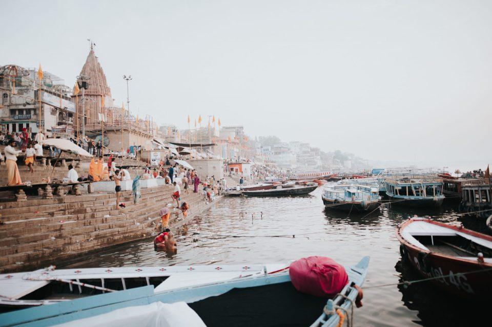 Image of Varanasi Ganga ghat in India