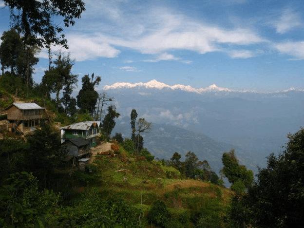 Mountain village in Rishop near Darjeeling in West Bengal