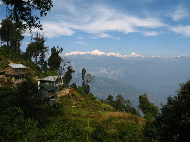 Mountain village in Rishop near Darjeeling in West Bengal