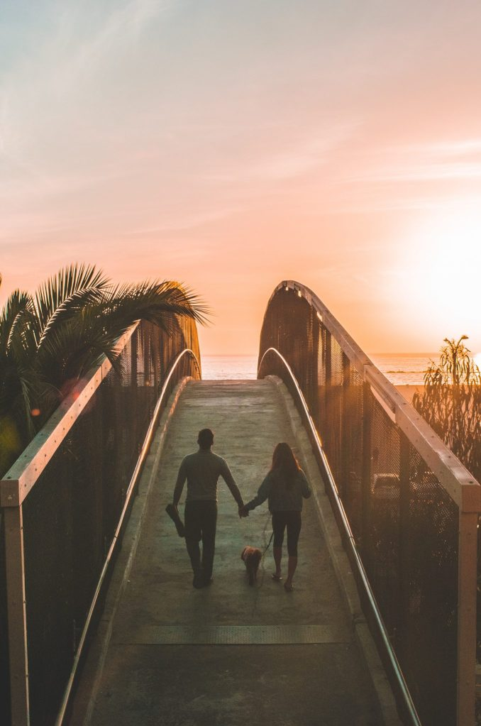Relationship goal - couples enjoying a walk together