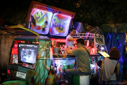 The coolest bar in our street – with an LCD TV in the back...