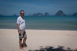 Werner walking on Tup Kaek Beach