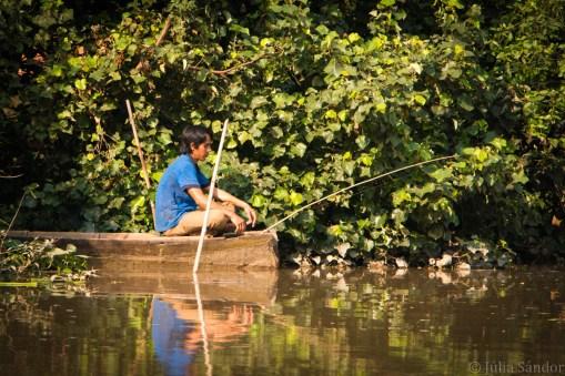Angler in the Mekong Delta
