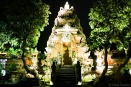 Saraswati temple by night