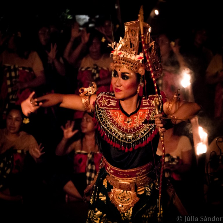 Kecak fire dancer in Bali