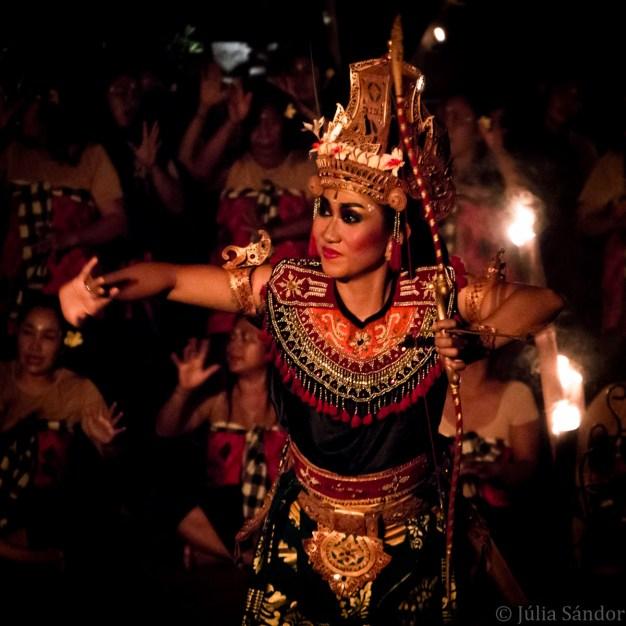 Faces of Asia: Kecak fire dancer in Bali