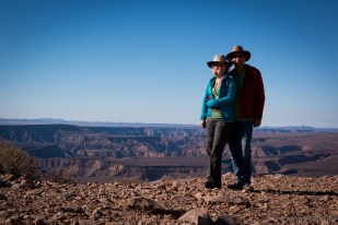 Fish River Canyon view with Julia and Werner