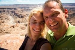 Julia&Werner at the Fish River Canyon