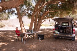 Picnic in the wild - a bit later we found out, that there are lions in the area...