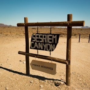 Sesriem Canyon sign