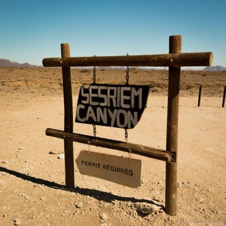 Sesriem Canyon sign