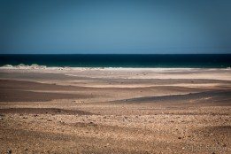 Cold water meets hot desert sand