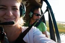 Julia piloting the aircraft - or just the camera :-)