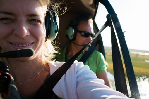 Julia piloting the aircraft - or just the camera :-)