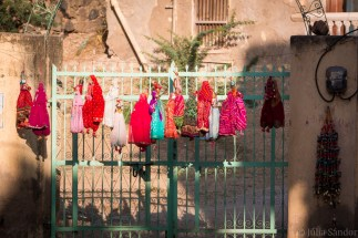 On the streets of Mandawa - hand made puppets