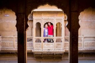 In the courtyard of Patwa Haveli in Jaisalmer