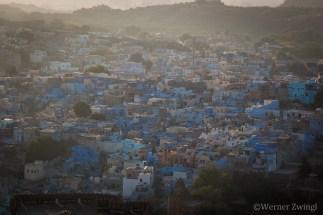 Sunset in The Blue City Jodhpur, India