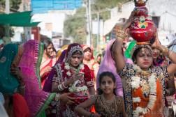 Bride parade in Pushkar