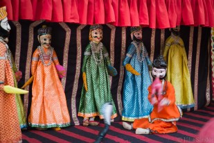 India impressions: Puppet show in the Jaipur city Palace