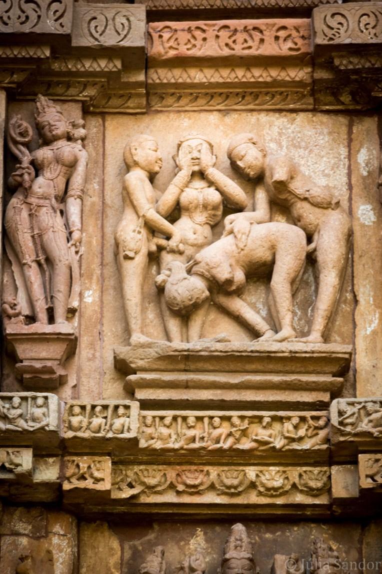 India impressions: Erotic statues in Khajuraho