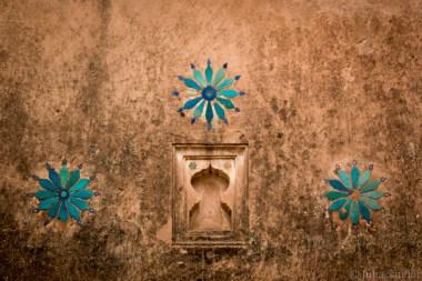 Wall decoration at Jahangir Mahal in Orchha
