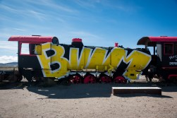 In the Train cemetery near Uyuni there are trains abandoned since 80 years, but graffity artists did their best to revive them