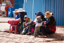 Street view in the small town of San Cristobal, in Bolivia