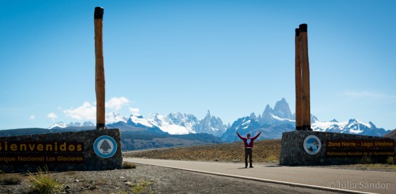 Giants entrance to the NP Los Glaciares